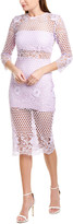 Karina Grimaldi Shell Lace Midi Dress