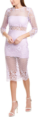 Karina Grimaldi Shell Lace Midi Dress