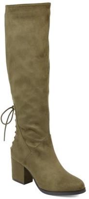 Brinley Co. Women's Wide Calf Knee-high Heeled Boot