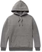 Beams Mélange Loopback Cotton-jersey Hoodie - Dark gray