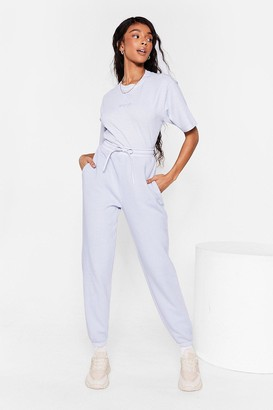 Nasty Gal Womens Word On the Street Oversized Joggers - Blue - 10