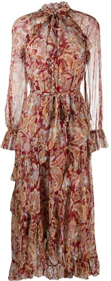 Zimmermann Paisley Print Flare Dress