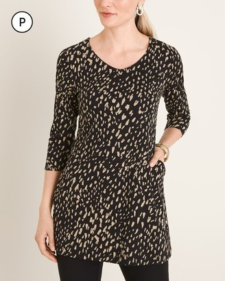 Chico's Chicos Petite Cheetah-Print Pocket Tunic