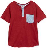 Original Penguin Pomegranate Pete Short-Sleeve Pocket Henley - Boys