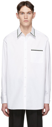 Valentino White Embroidered Buttoned Shirt