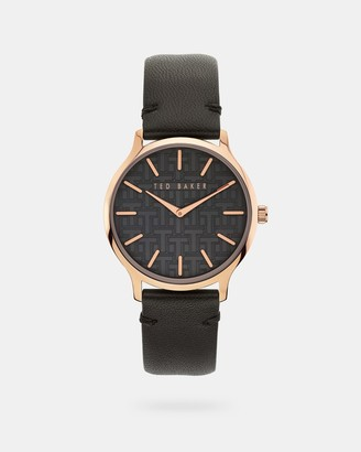 Ted Baker POPPIEY Embossed leather strap watch