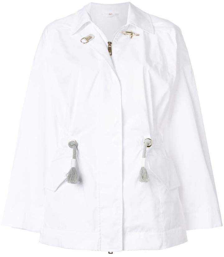 Fay drawstring fitted jacket