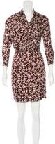 Isabel Marant Silk-Blend Geometric Print Dress