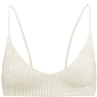 Jacquemus Valensole V-neck Rib-knitted Bra Top - Ivory
