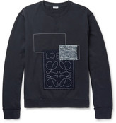 Loewe Anagram Appliquéd Loopback Cotton-Jersey Sweatshirt