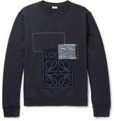 Loewe Anagram Appliquéd Loopback Cotton-jersey Sweatshirt