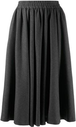 Valentino Pre Owned 1980's Godet Midi Skirt
