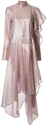 Petar Petrov Doris metallic ruffle dress