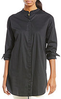 Eileen Fisher Mandarin Collar Long Shirt