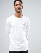 Sisley Long Sleeve T-Shirt With Like Button