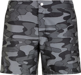 VACATION MOOD Camouflage swim shorts in jacquard technical fabric