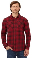 Animal Red Checked Regular Fit Shirt