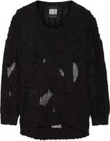 Alexander Wang Mesh and cotton-blend sweater