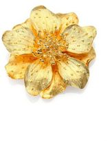 Kenneth Jay Lane Anemone Flower Pin