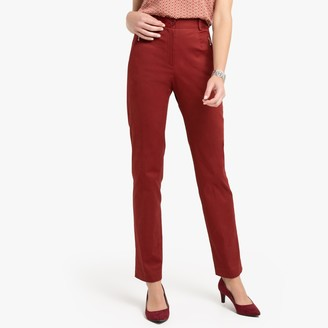 Anne Weyburn Stretch Cotton Satin Trousers, Length 30.5""