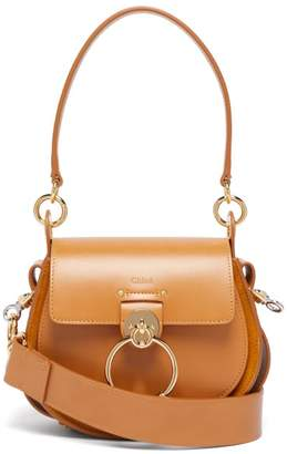 Chloé Tess Small Leather And Suede Cross-body Bag - Womens - Amber