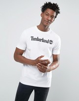 Timberland Linear Logo T-shirt In White