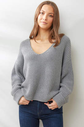 French Connection Grey Millie Mozart Sweater Grey S