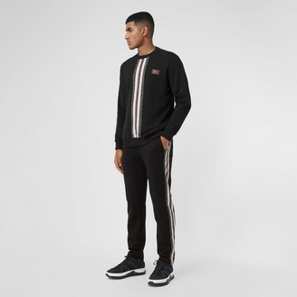 Burberry Monogram Stripe Pane Cotton Trackpants