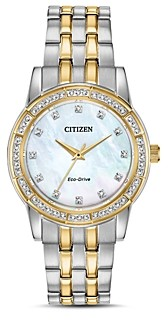 Citizen Silhouette Two-Tone Mother-of-Pearl Dial Watch, 31mm