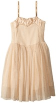 Stella McCartney Sweetie Dress w/ Gold Polka Dots Sequined Straps Girl's Dress