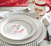 Pottery Barn Merry & Bright Appetizer Plate, Set of 4