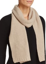 C by Bloomingdale's Waffle Knit Cashmere Scarf
