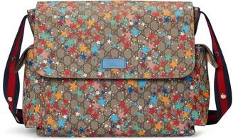 Gucci GG star print diaper bag