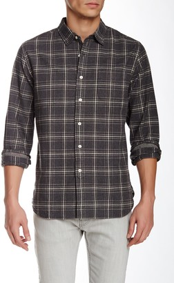 Grayers Heather Plaid Long Sleeve Regular Fit Shirt