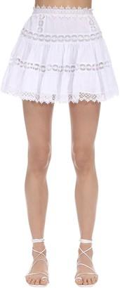 Charo Ruiz Ibiza Greta Ruffled Lace Mini Skirt