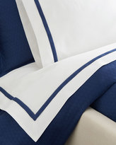 Sferra Full/Queen Oxford Border Flat Sheet