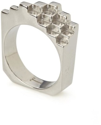 Jewel Tree London Sterling Silver Hive Ring