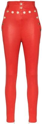 Skiim Natalie high-waisted leather trousers