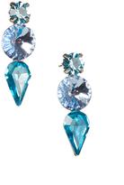 Love Rocks Blue Crystal Trio Drop Earrings