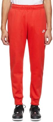 Nike Red Sportswear Club Sweatpants