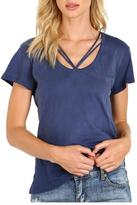 LnA V-Neck Strappy Tee