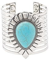 Charlotte Russe Faux Turquoise Caged Cuff Bracelet