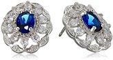 "Carolee The Cloisters"" The Cloisters Blue Crystal Stud Pierced Stud Earrings"