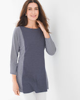 Chico's Lucy Stripe Mix Tunic