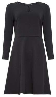 Dorothy Perkins Womens Black Keyhole Fit And Flare Dress, Black