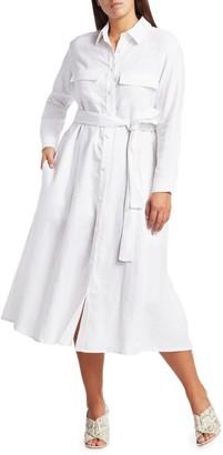 Baacal, Plus Size Belted Linen Shirtdress