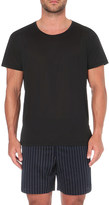 La Perla Crewneck silk and cotton-blend t-shirt