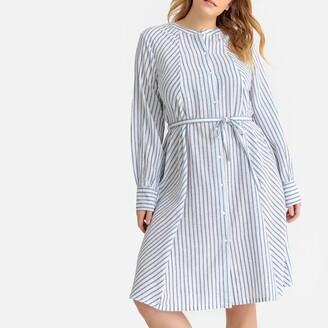 Castaluna Plus Size Striped Tie-Waist Dress