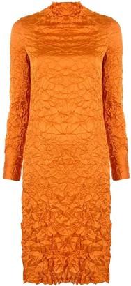 Xu Zhi Wrinkle crinkle-effect midi dress