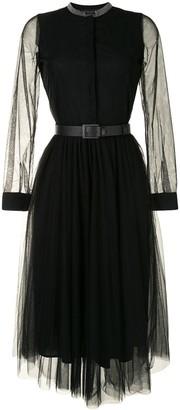 Fabiana Filippi Flared Tulle Midi Dress